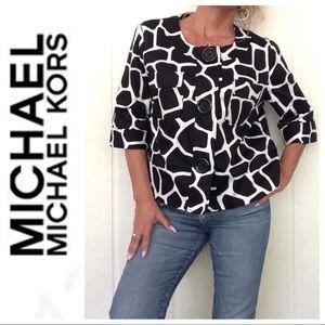 MICHAEL MICHAEL KORS GIRAFFE PRINT JACKET XL